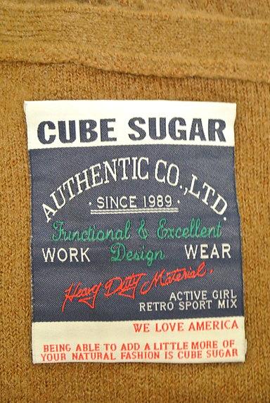 CUBE SUGAR(キューブシュガー)の古着「キャメルロングカーディガン(カーディガン・ボレロ)」大画像6へ