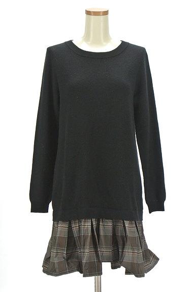 Rouge vif La cle(ルージュヴィフラクレ)の古着「裾切替ニットワンピース(ワンピース・チュニック)」大画像1へ