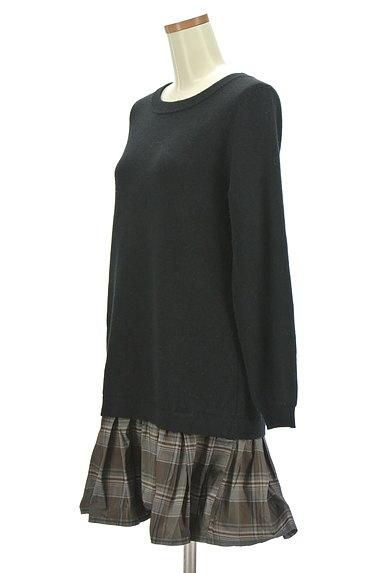 Rouge vif La cle(ルージュヴィフラクレ)の古着「裾切替ニットワンピース(ワンピース・チュニック)」大画像3へ