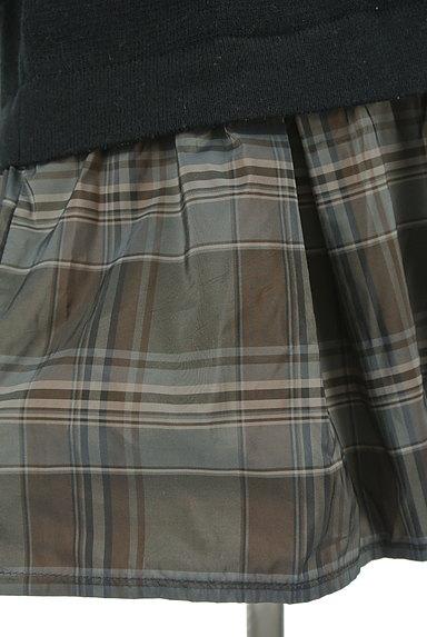 Rouge vif La cle(ルージュヴィフラクレ)の古着「裾切替ニットワンピース(ワンピース・チュニック)」大画像4へ