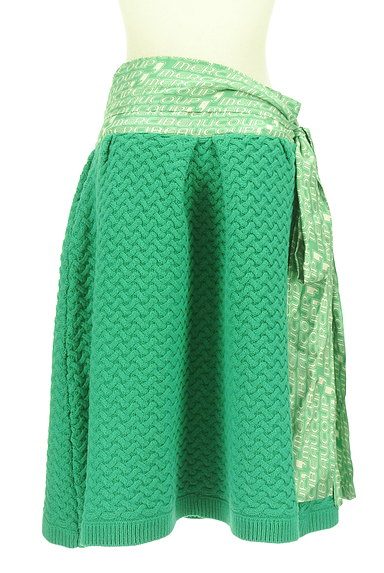 mercibeaucoup(メルシーボークー)の古着「ウエストリボンニットスカート(スカート)」大画像2へ