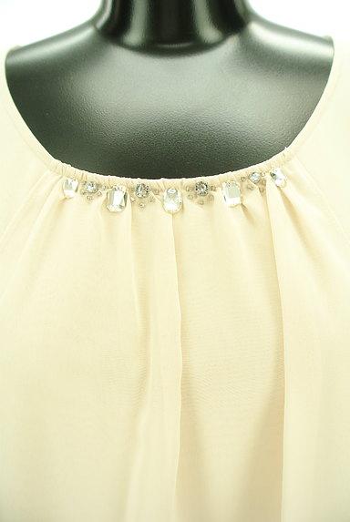 MK MICHEL KLEIN(エムケーミッシェルクラン)の古着「襟ビジューシフォンカットソー(カットソー・プルオーバー)」大画像4へ