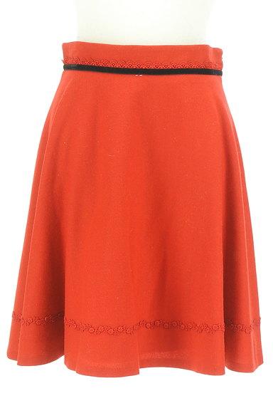 LAISSE PASSE(レッセパッセ)の古着「リボンベロアラインフレアスカート(スカート)」大画像1へ
