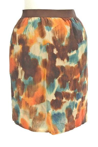LOUNIE(ルーニィ)の古着「ぼかし柄セミタイトスカート(ミニスカート)」大画像1へ