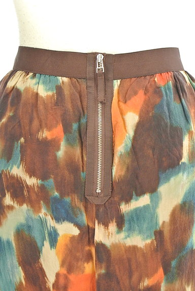 LOUNIE(ルーニィ)の古着「ぼかし柄セミタイトスカート(ミニスカート)」大画像5へ