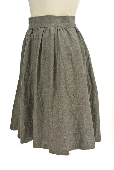 LOUNIE(ルーニィ)の古着「シンプルタックフレアスカート(スカート)」大画像3へ