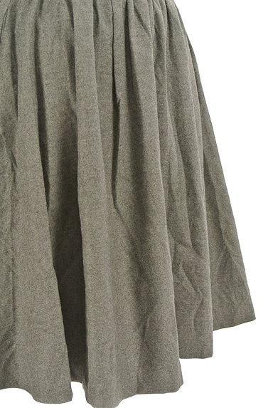 LOUNIE(ルーニィ)の古着「シンプルタックフレアスカート(スカート)」大画像5へ