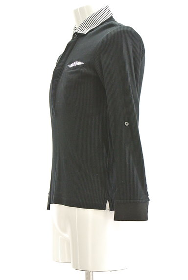 NICOLE(ニコル)の古着「襟付リブカットソー(カットソー・プルオーバー)」大画像3へ