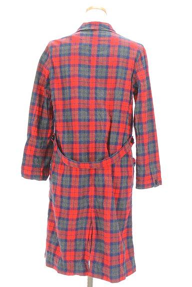 CHILD WOMAN(チャイルドウーマン)の古着「チェック柄ロングトレンチコート(トレンチコート)」大画像2へ
