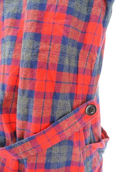 CHILD WOMAN(チャイルドウーマン)の古着「チェック柄ロングトレンチコート(トレンチコート)」大画像5へ
