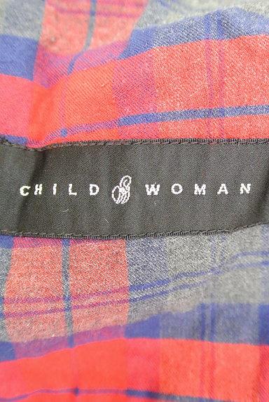 CHILD WOMAN(チャイルドウーマン)の古着「チェック柄ロングトレンチコート(トレンチコート)」大画像6へ