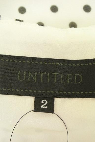 UNTITLED(アンタイトル)の古着「ドット柄フレアシフォンブラウス(カットソー・プルオーバー)」大画像6へ