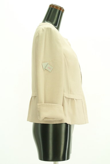 SunaUna(スーナウーナ)の古着「ノーカラーペプラムジャケット(ジャケット)」大画像4へ