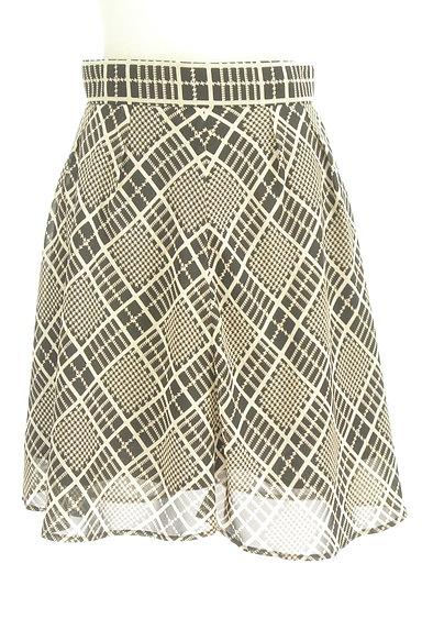 PROPORTION BODY DRESSING(プロポーションボディ ドレッシング)の古着「チェック柄シフォンフレアスカート(スカート)」大画像1へ