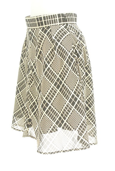 PROPORTION BODY DRESSING(プロポーションボディ ドレッシング)の古着「チェック柄シフォンフレアスカート(スカート)」大画像3へ