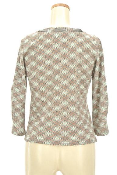 KUMIKYOKU(組曲)の古着「襟ぐりリボン七分袖カットソー(カットソー・プルオーバー)」大画像2へ