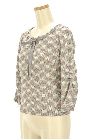KUMIKYOKU(組曲)の古着「襟ぐりリボン七分袖カットソー(カットソー・プルオーバー)」大画像3へ