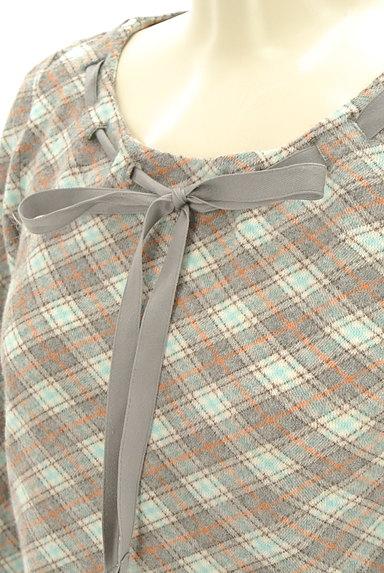KUMIKYOKU(組曲)の古着「襟ぐりリボン七分袖カットソー(カットソー・プルオーバー)」大画像4へ
