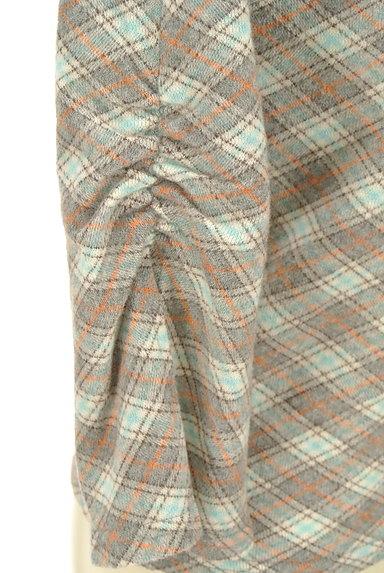 KUMIKYOKU(組曲)の古着「襟ぐりリボン七分袖カットソー(カットソー・プルオーバー)」大画像5へ