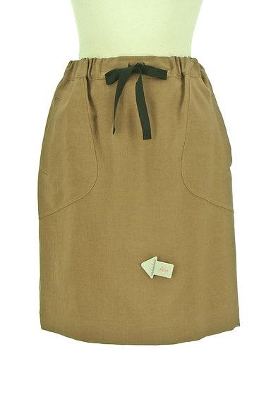 Te chichi(テチチ)の古着「バイカラードローコードスカート(スカート)」大画像4へ