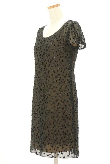 LOUNIE(ルーニィ)の古着「ラメドット柄シアーワンピース(ワンピース・チュニック)」大画像3へ