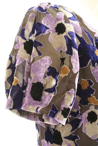 LOUNIE(ルーニィ)の古着「ベロア花柄シアーワンピース(ワンピース・チュニック)」大画像4へ