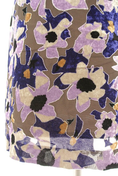 LOUNIE(ルーニィ)の古着「ベロア花柄シアーワンピース(ワンピース・チュニック)」大画像5へ