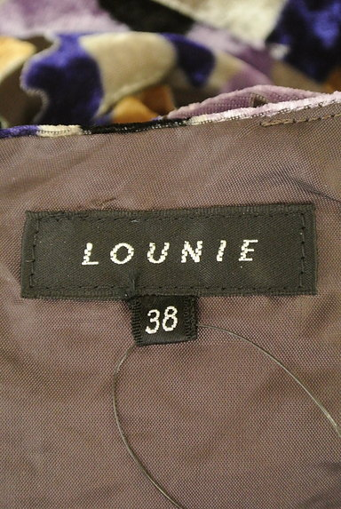 LOUNIE(ルーニィ)の古着「ベロア花柄シアーワンピース(ワンピース・チュニック)」大画像6へ