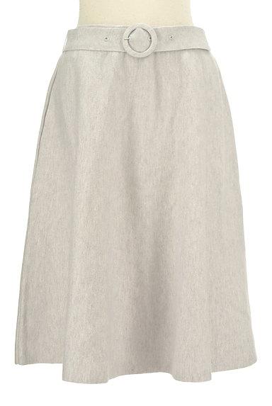 MISCH MASCH(ミッシュマッシュ)の古着「ベルト付きニットフレアスカート(スカート)」大画像1へ