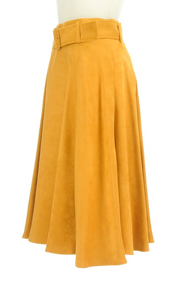 Apuweiser riche(アプワイザーリッシェ)の古着「ベルト付き膝下丈フレアスカート(スカート)」大画像3へ