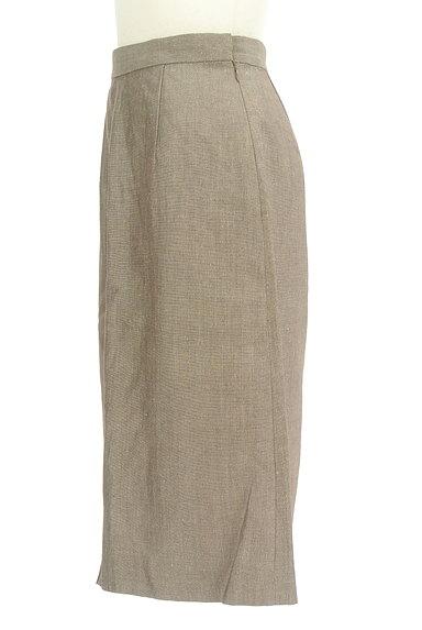 NOLLEY'S(ノーリーズ)の古着「前スリットリネンスカート(スカート)」大画像3へ