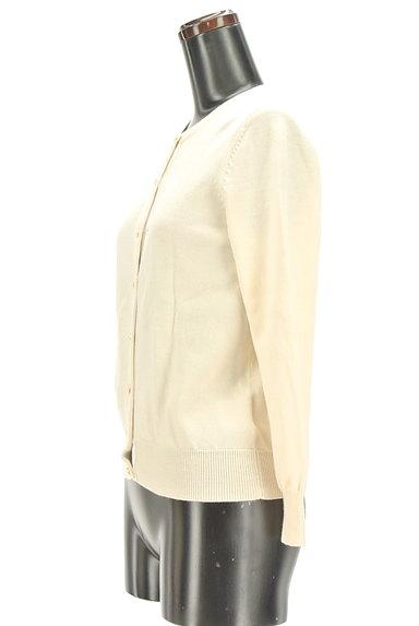INDIVI(インディヴィ)の古着「マットゴールドボタンカーディガン(カーディガン・ボレロ)」大画像3へ