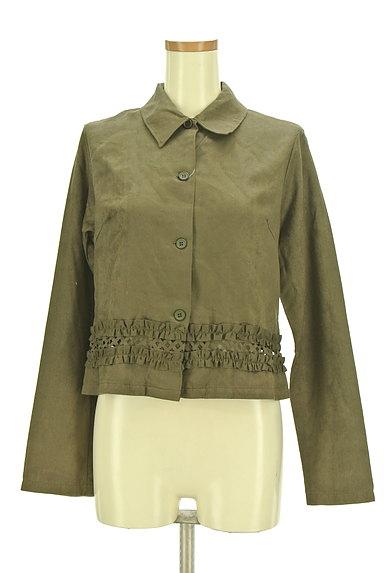 OZOC(オゾック)の古着「裾フリルミリタリーシャツ(カジュアルシャツ)」大画像1へ