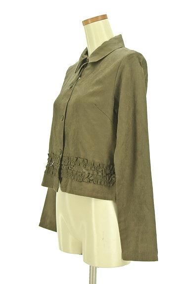 OZOC(オゾック)の古着「裾フリルミリタリーシャツ(カジュアルシャツ)」大画像3へ