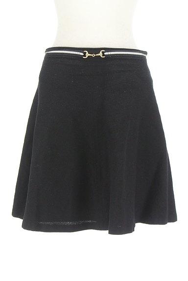 INDIVI(インディヴィ)の古着「ビット金具フレアミニスカート(ミニスカート)」大画像1へ