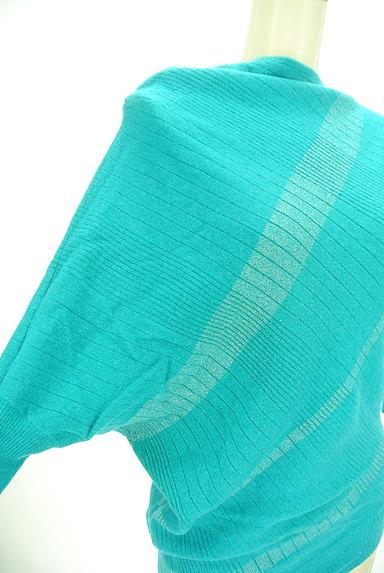 INDIVI(インディヴィ)の古着「アシンメトリー七分袖ニット(ニット)」大画像4へ