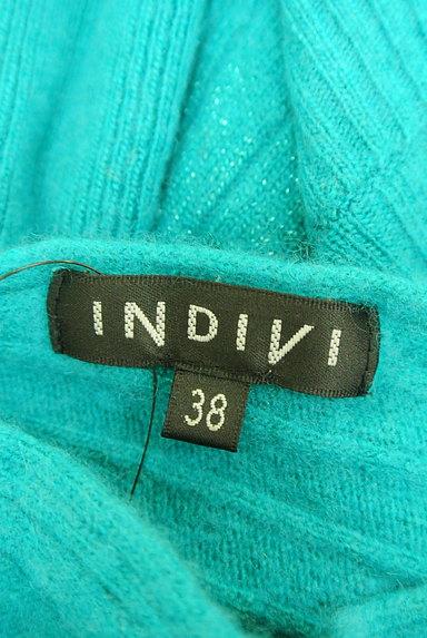 INDIVI(インディヴィ)の古着「アシンメトリー七分袖ニット(ニット)」大画像6へ