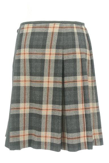 KUMIKYOKU(組曲)の古着「チェック×無地サイドリボンスカート(スカート)」大画像2へ