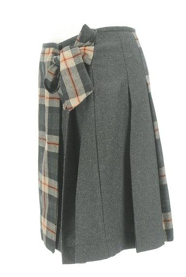 KUMIKYOKU(組曲)の古着「チェック×無地サイドリボンスカート(スカート)」大画像3へ