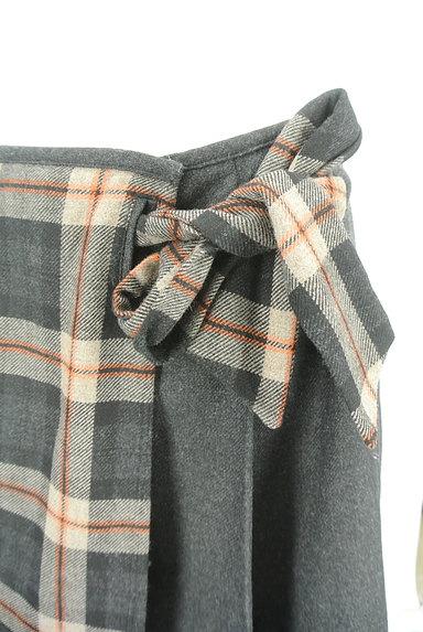 KUMIKYOKU(組曲)の古着「チェック×無地サイドリボンスカート(スカート)」大画像4へ