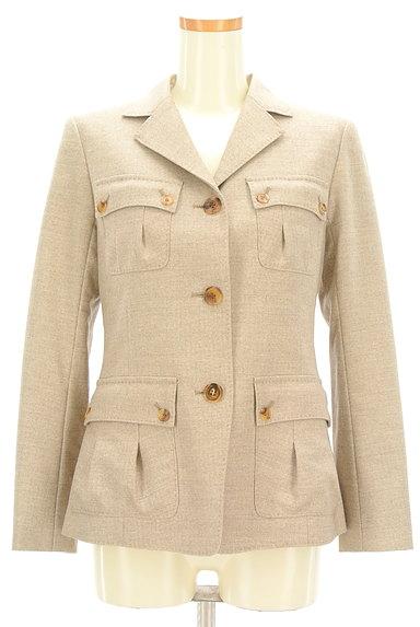 L'EQUIPE YOSHIE INABA(レキップヨシエイナバ)の古着「襟付き裾フレアジャケット(ジャケット)」大画像1へ