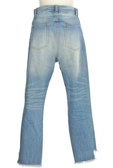 DRWCYS(ドロシーズ)の古着「裾フリンジストレートデニム(デニムパンツ)」大画像2へ