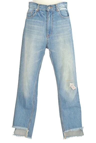 DRWCYS(ドロシーズ)の古着「裾フリンジストレートデニム(デニムパンツ)」大画像4へ