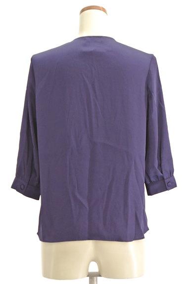 la.f...(ラエフ)の古着「フロントリボン七分袖シフォンブラウス(カットソー・プルオーバー)」大画像2へ