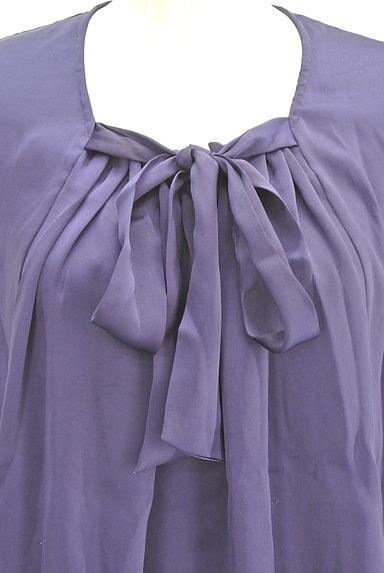 la.f...(ラエフ)の古着「フロントリボン七分袖シフォンブラウス(カットソー・プルオーバー)」大画像4へ