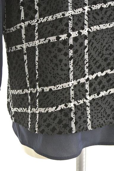 LAUTREAMONT(ロートレアモン)の古着「フロッキープリントシフォンブラウス(カットソー・プルオーバー)」大画像5へ