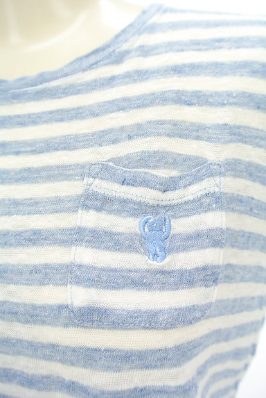 coen(コーエン)の古着「ポケット付きボーダーリネンカットソー(カットソー・プルオーバー)」大画像4へ