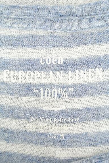 coen(コーエン)の古着「ポケット付きボーダーリネンカットソー(カットソー・プルオーバー)」大画像6へ