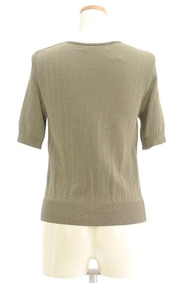 NATURAL BEAUTY(ナチュラルビューティ)の古着「ヘリンボーン柄半袖カーディガン(カーディガン・ボレロ)」大画像2へ
