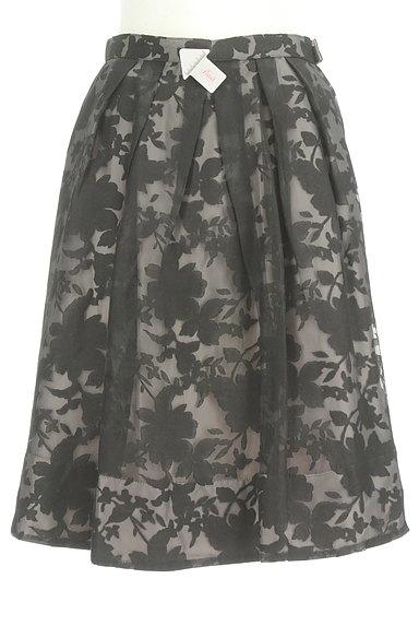 Apuweiser riche(アプワイザーリッシェ)の古着「花柄オーガンジー×無地スカート(スカート)」大画像3へ